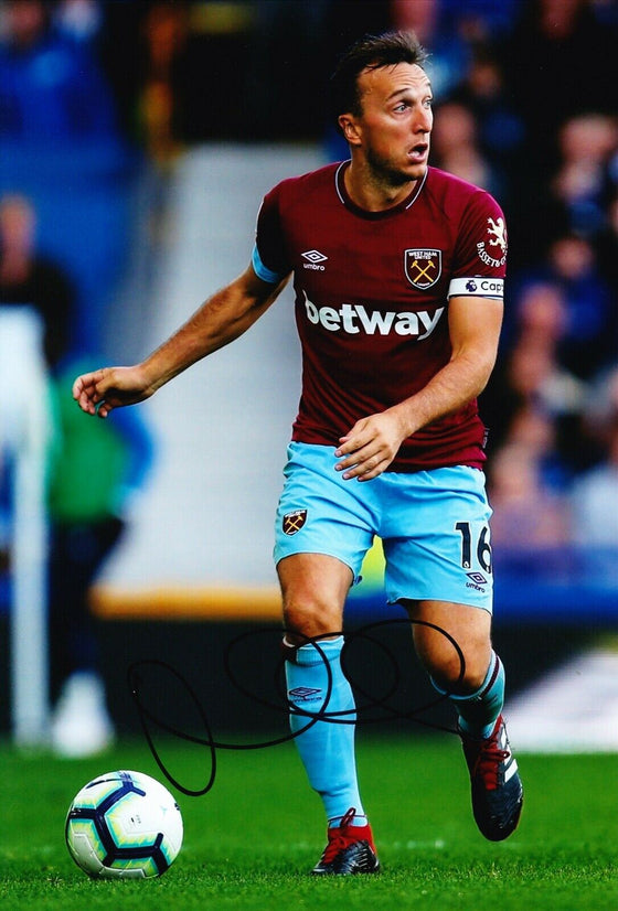 Mark Noble Signed 12X8 Photo West Ham United GENUINE SIGNATURE AFTAL COA (1841)