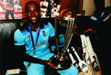 Jofra Archer Signed 12X8 Photo 2019 England CRICKET World Cup AFTAL COA (2649)