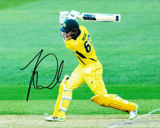 Travis HEAD Signed 10X8 Photo Cricket Australia AFTAL COA (2556)
