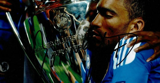 Jose Bosingwa Signed 12X8 PHOTO Genuine CHELSEA F.C Munich 2012 AFTAL COA (9015)