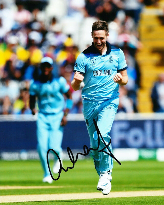 Chris Woakes Signed 10X8 Photo 2019 England CRICKET World Cup AFTAL COA (2538)