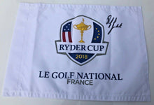 Phil Mickelson Genuine Hand Signed RYDER CUP 2018 PIN FLAG AFTAL COA (A)