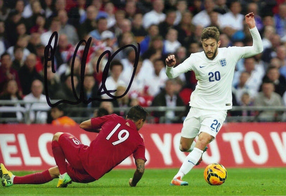Adam Lallana Signed 12X8 Photo Liverpool F.C. & England Genuine AFTAL COA (9142)