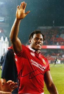 Maro Itoje Signed 12X8 England SARACENS & LIONS RUGBY PLAYER AFTAL COA (2120)