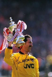 DAVID SEAMAN Signed 12X8 Photo Arsenal AFTAL COA (9101)