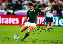 Handre Pollard Signed 12X8 Photo 2019 Rugby World Cup South Africa AFTAL COA (E)