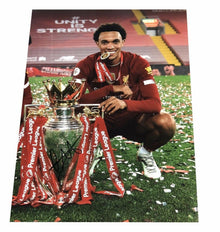 Trent Alexander-Arnold Signed 16X12 Premier League Trophy Photo AFTAL COA (C)