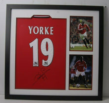 Dwight Yorke Signed & FRAMED Jersey Manchester United F.C. AFTAL COA (B)