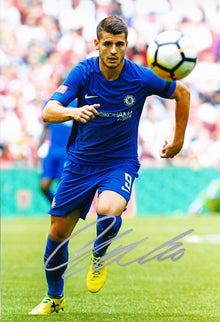 Alvaro Morata Signed 12X8 Photo Chelsea F.C. Genuine Signature AFTAL COA (9104)