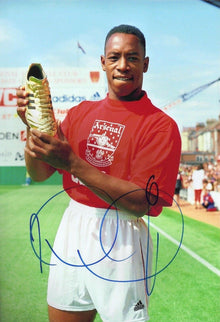 Ian Wright Signed 12X8 Photo Arsenal F.C. Genuine Signature AFTAL COA (1729)