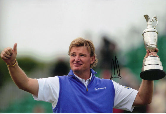 Ernie Els Genuine Hand Signed 12x8 Photo Open Championship 2012 (3158)