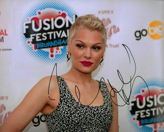 Jessie J Autograph Signed 10X8 Photo GENUINE HAND SIGNED