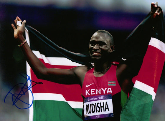 David Rudisha Genuine Hand Signed 12X8 Photo LONDON 2012