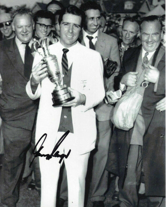 Gary Player Signed 10X8 Photo 9 Time Major Winner AFTAL COA (3056)