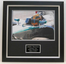 Lewis Hamilton Genuine Hand Signed FRAMED PHOTO MERCEDES (A)