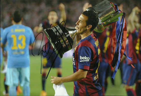 Pedro Signed 12X8 Photo FC Barcelona Genuine Autograph AFTAL COA (1674)