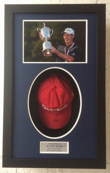 Justin Rose Genuine Hand Signed TaylorMade Golf Cap AFTAL COA (A)