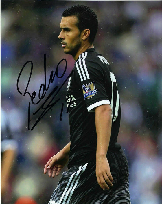 Pedro Signed 10X8 Photo Chelsea F.C. GENUINE Autograph AFTAL COA (1250)