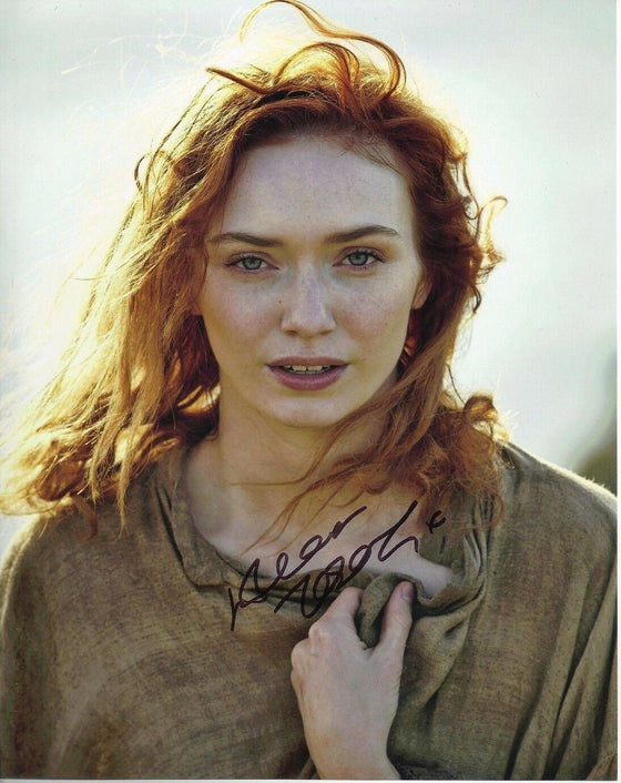 Eleanor Tomlinson SIGNED 10X8 PHOTO Poldark Genuine AFTAL COA (5548)