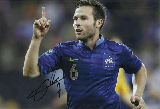 Yohan Cabaye Signed 12X8 Photo France CRYSTAL PALACE Signature AFTAL COA (1664)