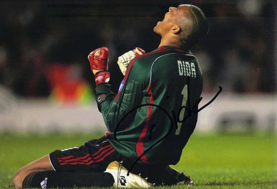 Dida SIGNED 12X8 PHOTO A.C. Milan BRAZIL AFTAL COA (1746)