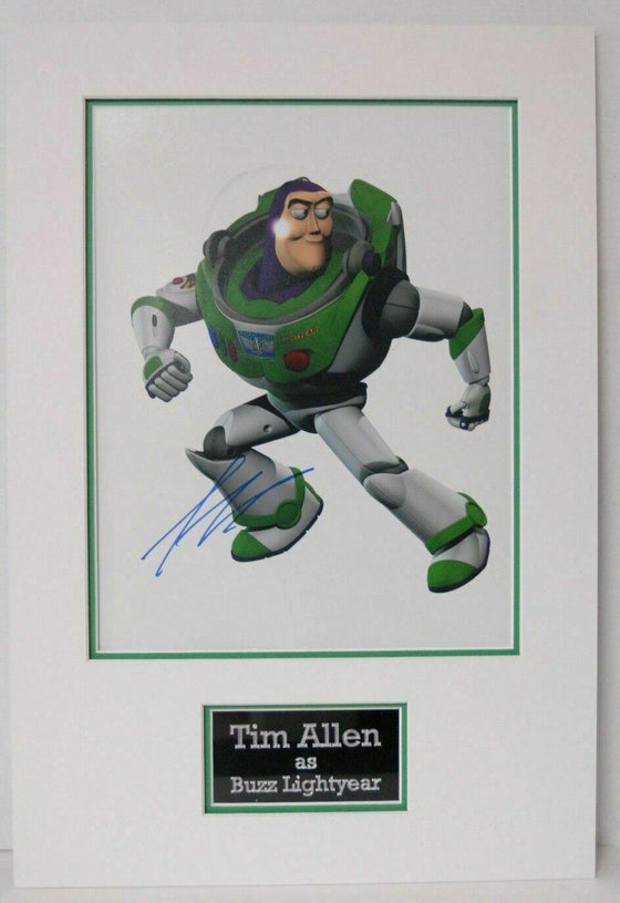 Tim Allen SIGNED 14X11 PHOTO Toy Story MOUNTED DISPLAY Genuine AFTAL COA (A)