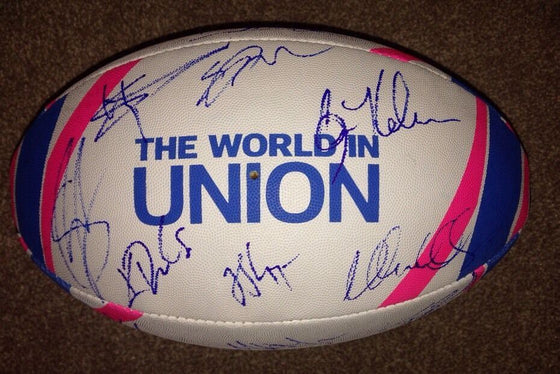 Australia RUGBY Ball Signed by 2015 RUGBY WORLD CUP Squad With Proof