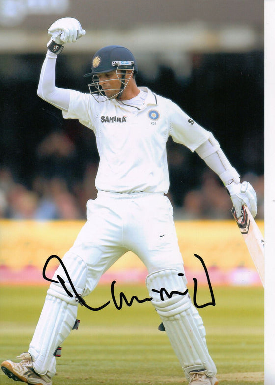 Rahul Dravid Signed 12X8 PHOTO Genuine INDIA Cricket AFTAL COA (2614)