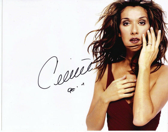 Celine Dion GENUINE HAND SIGNED 10x8 Photo