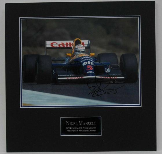 Nigel Mansell Hand Signed Autograph In Person 16X12 Photo MOUNTED