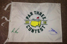MASTERS 2015 FLAG PAR THREE CONTEST SIGNED BY GARY PLAYER & ARNOLD PALMER
