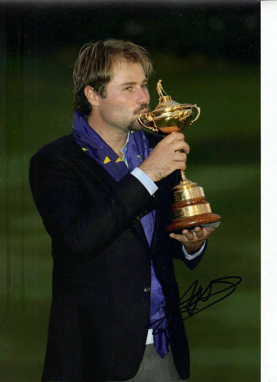 Victor Dubuisson Original Hand Signed Autograph 12X8 Photo 2014 RYDER CUP (3141)