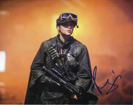 Felicity Jones Signed 10X8 Photo Rogue One: A STAR WARS Story AFTAL COA (5647)