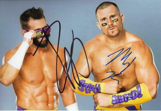 The Hype Bros Signed 12X8 Photo Zack Ryder & Mojo Rawley WWE AFTAL COA (7152)