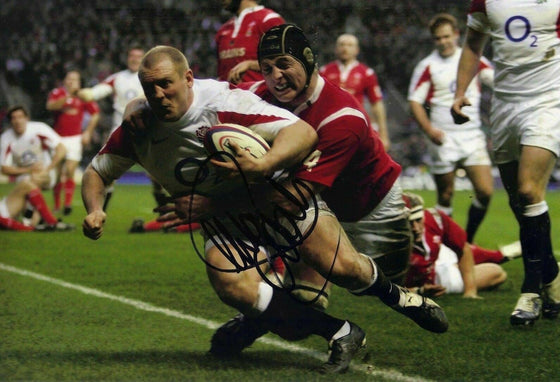 Mike Tindall Signed 12X8 Photo ENGLAND RUGBY Genuine SIgnature AFTAL COA (2234)