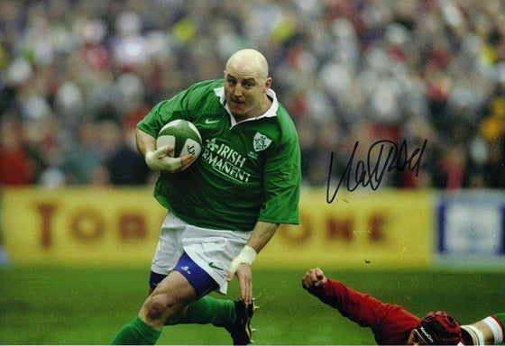 Keith Wood Signed 12X8 Photo Lions Munster & Ireland Rugby AFTAL COA (2246)