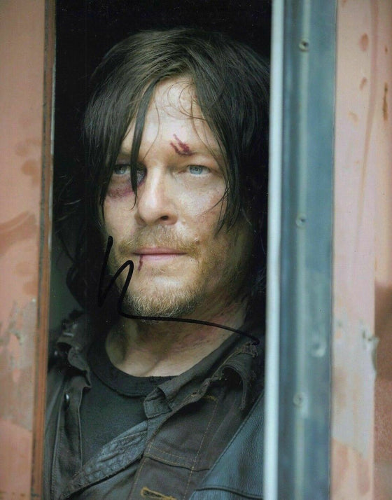 Norman Reedus Signed 10X8 Photo Walking Dead AFTAL COA (7299)