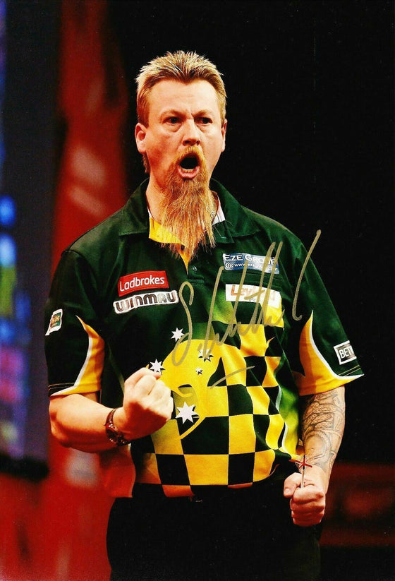 Simon Whitlock Signed 12X8 Photo Autographed Darts Memorabilia AFTAL COA (A)
