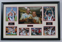 Jonny Wilkinson & Martin Johnson Signed Photo Mount Display England RUGBY AFTAL