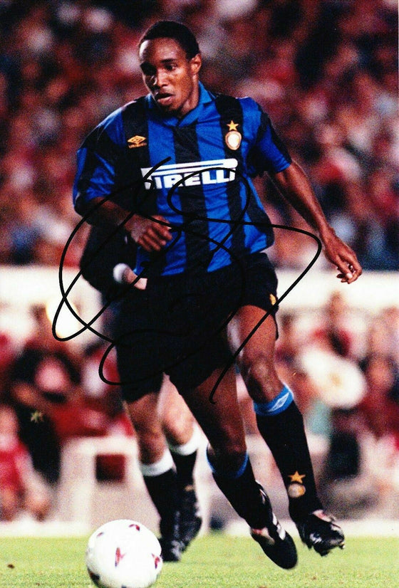 Paul Ince Signed 12X8 Photo Inter Milan AFTAL COA (9069)