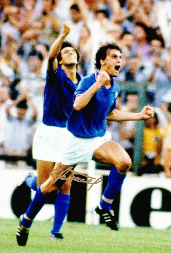 Marco Tardelli Signed 12X8 Photo Italy ICONIC IMAGE AFTAL COA (9153)