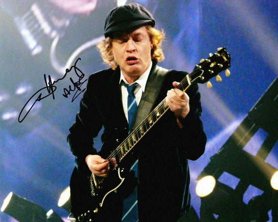 Angus Young Signed 10X8 PHOTO AC/DC Genuine SIGNATURE AFTAL COA (D)