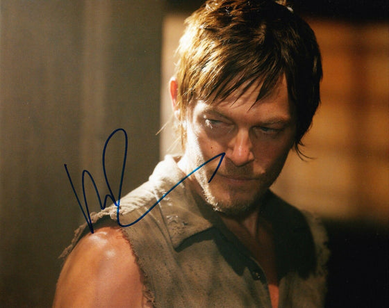 Norman Reedus Signed 10X8 Photo Walking Dead AFTAL COA (7410)