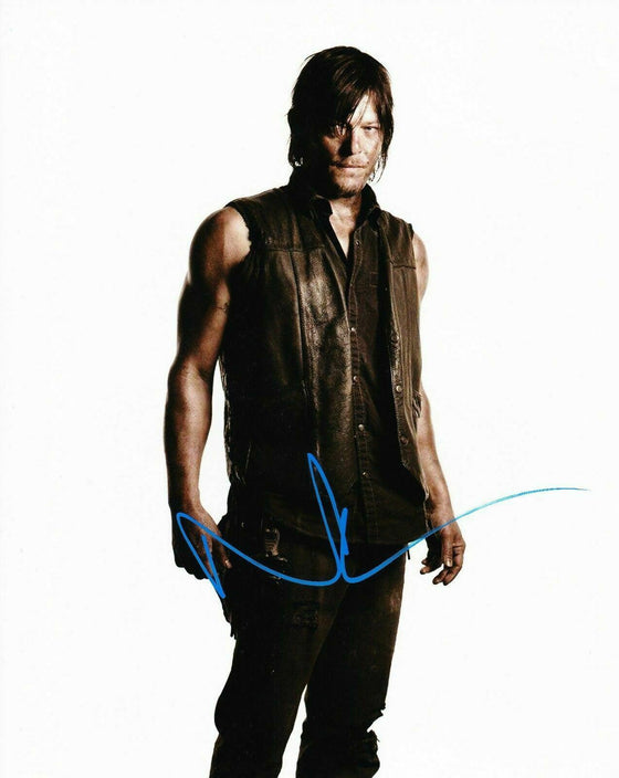 Norman Reedus Signed 10X8 Photo Walking Dead AFTAL COA (7412)