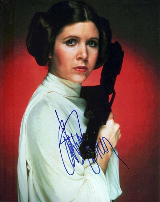 Carrie Fisher Signed 10X8 Photo STAR WARS AFTAL COA (5674)