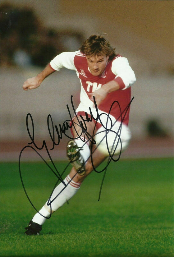 GLENN HODDLE Signed 12X8 Photo AUTOGRAPH MONACO & ENGLAND Spurs AFTAL COA (1698)