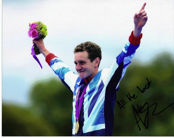 ALISTAIR BROWNLEE SIGNED 10X8 PHOTO TEAM GB TRIATHLON GOLD MEDALIST