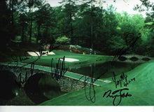 Masters 12X8 PHOTO Genuine Signed By 9 INC Gary Player AFTAL COA (3091)