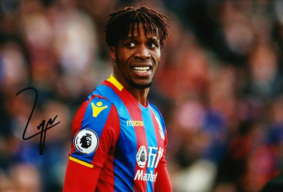 Wilfried Zaha Signed 12X8 Photo CRYSTAL PALACE Signature AFTAL COA (1439)