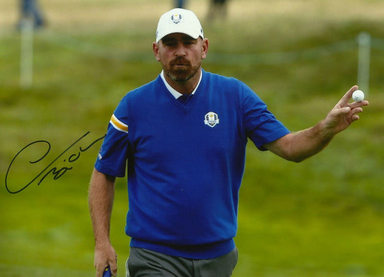 Thomas Bjorn Signed 12X8 Photo 2014 RYDER CUP AFTAL COA (3140)